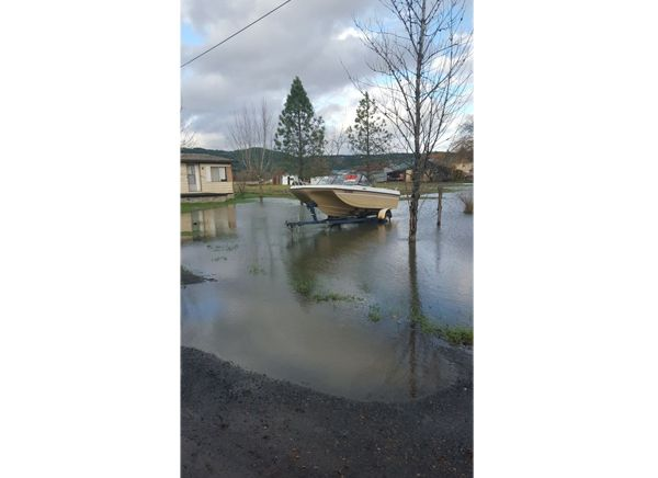 Photo submitted by Kellie Kuberski##Flooding in Sheridan Monday afternoon.
