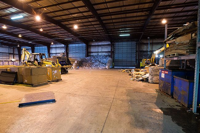 Marcus Larson / News-Register##The recycling floor of Recology s facility on Orchard Avenue. Recology is looking to add to the facility to allow for further sorting of recycling and to divert more trash from landfills.