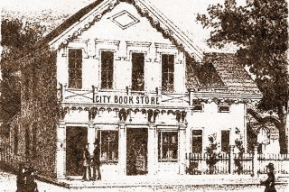 Image: Oregon Historical Quarterly ## When they first arrived in Salem, Drs. Adeline and Gideon Weed rented an office on the second floor of this book shop, in 1858.