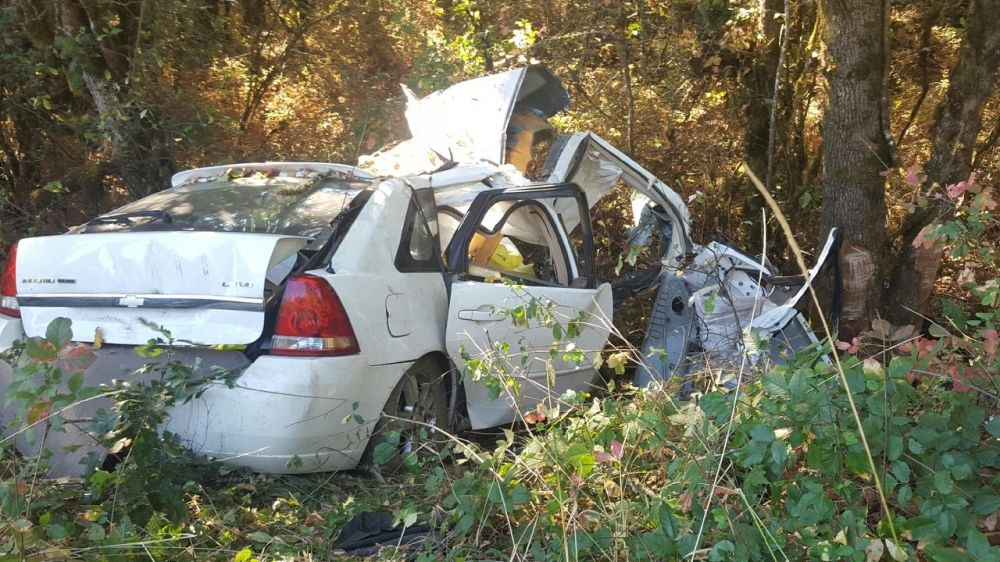 Photo courtesy Oregon State Police##A Portland man was killed in a single-vehicle crash Sunday morning on Highway 18, just west of the Polk/Yamhill County line.