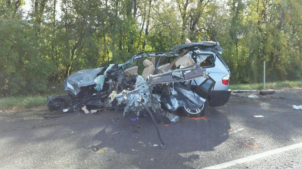 Photos courtesy Oregon State Police##A three-vehicle crash Thursday morning north of Gaston on Highway 47 injured a Carlton woman and Yamhill woman. The incident involved a fully-loaded corn truck.