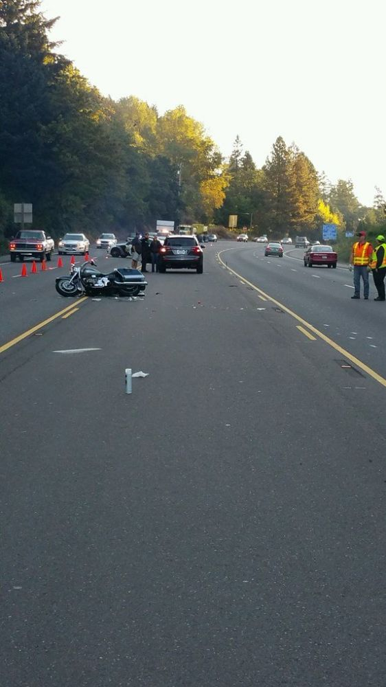Courtesy Oregon State Police##A Newberg motorcyclist was killed Wednesday morning in a crash on Highway 99W.