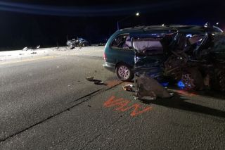 Oregon State Police photo##A two-vehicle crash early Thursday morning west of Salem on Highway 22 claimed the life of a McMinnville woman.