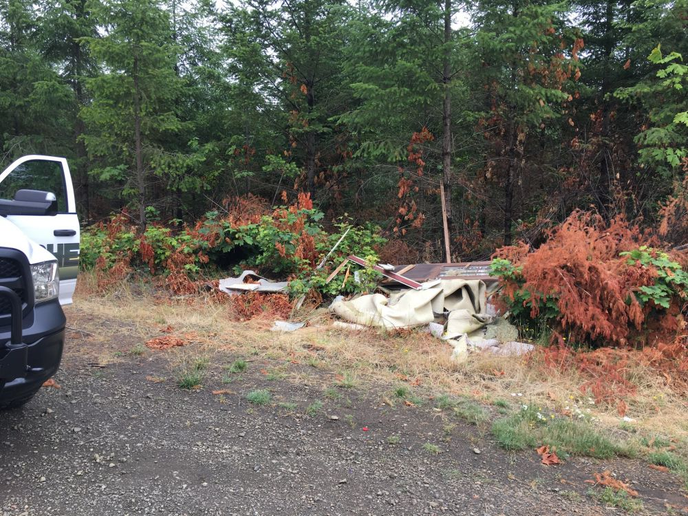 Yamhill County Sheriff s Office photol##This is the location where four kittens were rescued by Sgt. Todd Whitlow.