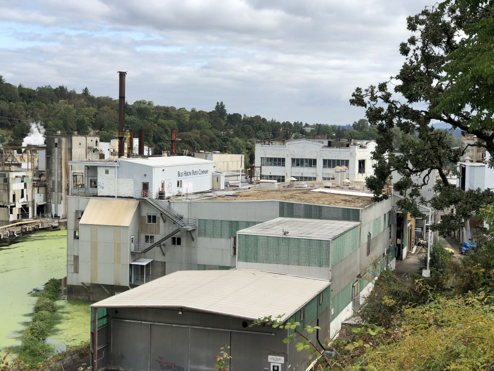Photo courtesy of The Confederated Tribes of  Grand Ronde##The Grand Ronde Tribe has purchased this 23-acre former paper mill site in Oregon City.