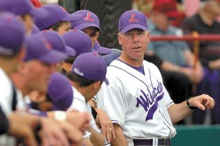 Brad Thompson photo##Scott Brosius, Linfield College s baseball coach, is stepping down after eight seasons.