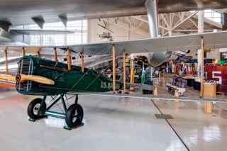 Evergreen Aviation & Space Museum photo##This de Havilland DH.4 saw service as a bomber in World War I. It s one of 25 planes that Evergreen Vintage Aircraft has on display at the Evergreen Aviation & Space Museum.