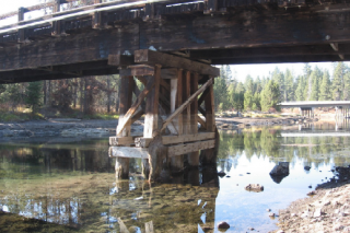 United States Forest Service image##The General Patch Bridge was built during the Oregon Maneuver.