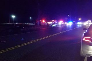 Oregon State Police photo##Two people died Wednesday night in a crash near Sheridan.
