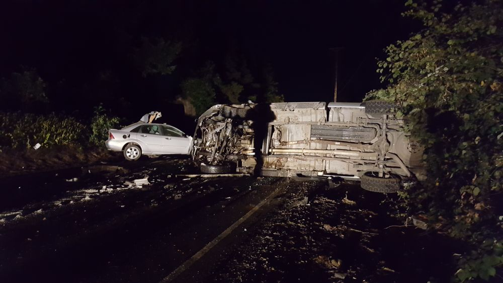 Oregon State Police submitted photo##A Woodburn man was killed late Friday night in a two-vehicle head-on crash just west of Newberg on Highway 240.