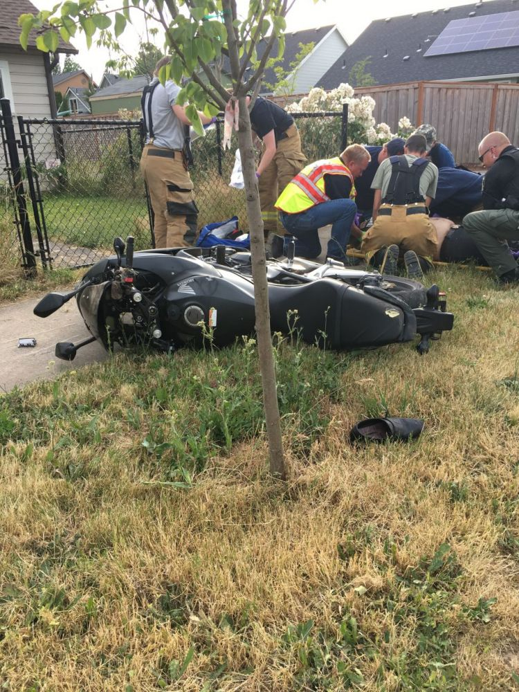 Photos courtesy Yamhill County Sheriff s Office##A McMinnville motorcyclist was injured after he crashed in Dayton Wednesday night following a high-speed pursuit