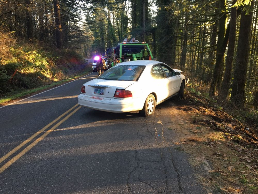 Photo courtesy Yamhhill County Sheriff s Office##A Hillsboro woman driving this car was killed Wednesday afternoon in a single-vehicle crash north of Newberg.