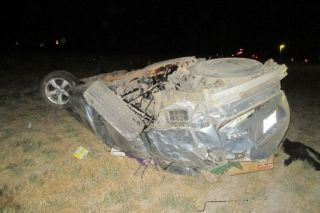 Photo courtesy Oregon State Police##An Amity resident was killed in a single-vehicle crash Monday night about eight miles east of Amity.