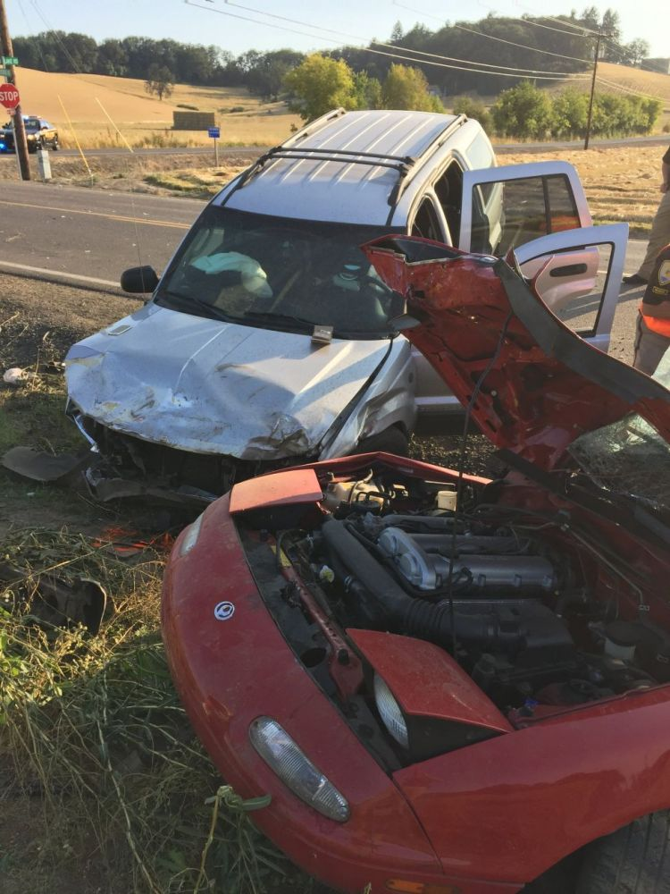 Photo courtesy Yamhill County Sheriff s Office##Two people were killed late Wednesday afternoon in a two-vehicle crash west of Carlton