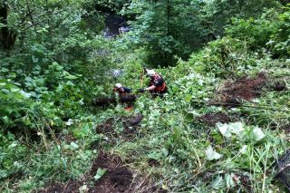 Submitted photo##McMinnville Fire Department Rope Rescue Team responded to the Sunday morning double-fatal crash.