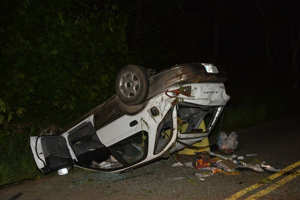 Photo courtesy Yamhill County Sheriff s Office##A 30-year-old Willamina woman was killed Thursday night in this crash north of Willamina on Gilbert Creek Road.