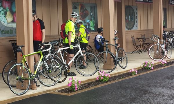 Dan Shryock/News-RegisterAmity Foods & Coffee House is a regular rest stop for weekend cyclists.