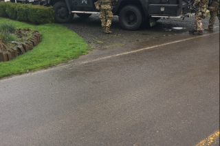 Photo courtesy Yamhill County Sheriff s Office##An Oregon State Police SWAT Unit responded to a residence Friday morning on Wheatland Road to help bring a domestic-related incident to an end.